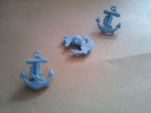Red /& Light Blue Blue 5 Anchor Buttons White 20mm