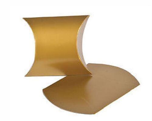 "Gold 4/"" Pillow Favor Boxes Birthday WEDDING Treat #37471"