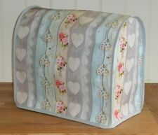 """Grey Edged """"Hearts"""" Vinyl Cover for KitchenAid and Kenwood kMix Food Mixers"""