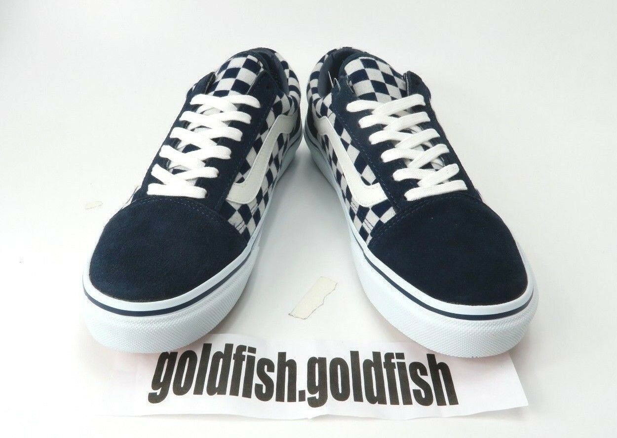 DS VANS OLD SKOOL V36CL V36CL V36CL JAPAN INDIGO Blau NEVY Weiß CHECK 568042 0001 6b4494