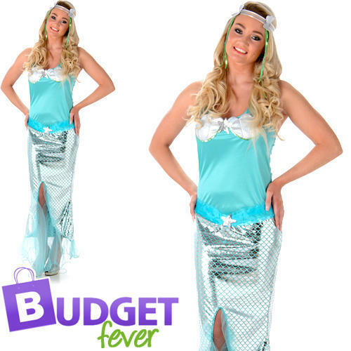 Mermaid Princess Ladies Fancy Dress Sea Fairy Tale Adults World Book Day Costume