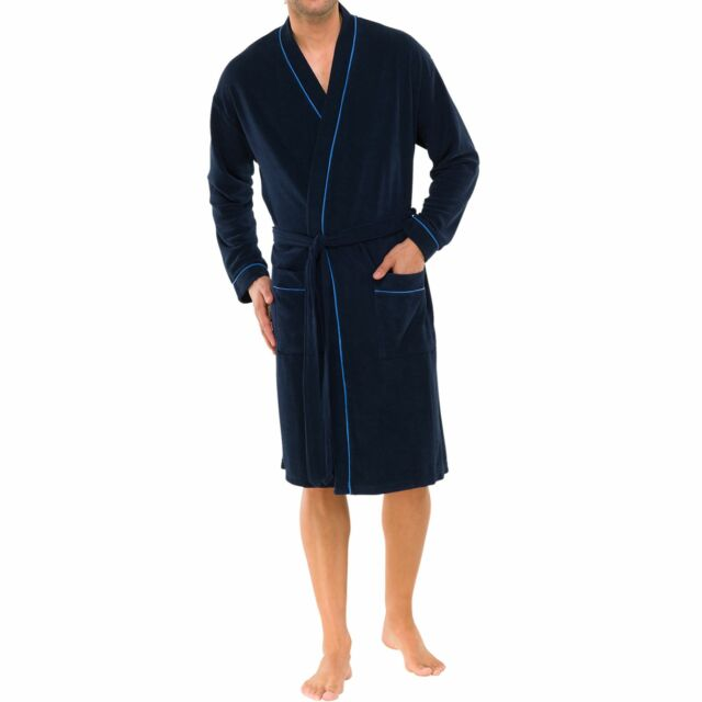 Schiesser Men\'s Travel Robe Light Dressing Gown 80 Co Sz S M L XL ...