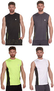 Mens-Adults-Redtag-Active-Sleeveless-Sports-Vest-Top-shirt-4-Colours