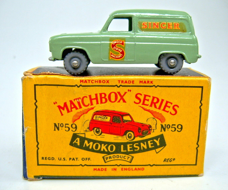 precios mas baratos Matchbox RW 59a Singer van verde claro claro claro plástico ruedas ronda ejes en  moko  box  descuentos y mas