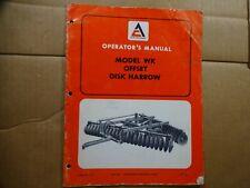 Allis Chalmers Model Wk Offset Disc Harrow Operators Manual Tm500