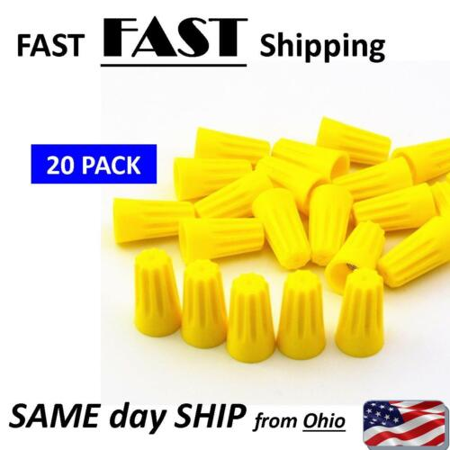 20x Yellow P4 Wire Connector Twist-On Terminals Cap Spring 22-10 AWG