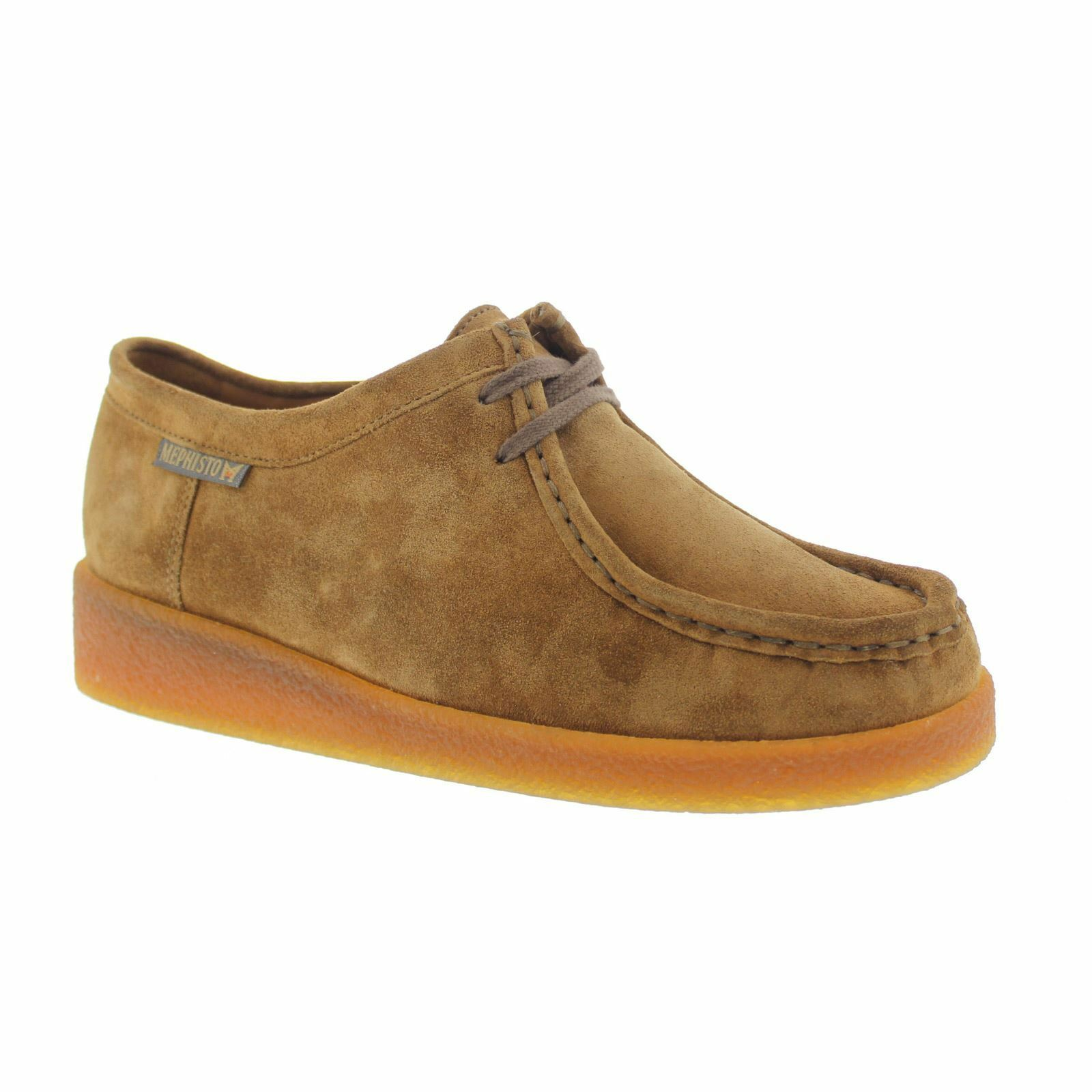 Mephisto Christy Tobacco femmes Suede Lace Up Low-Profile Moccasins chaussures