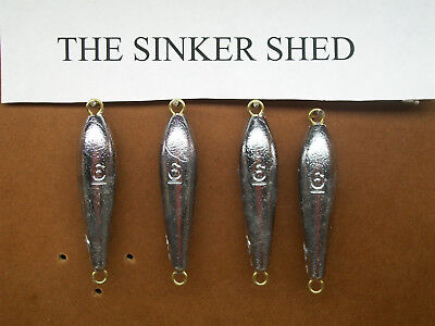 FREE SHIPPING 8 oz inline trolling sinkers choose quantity 3//6//12//25
