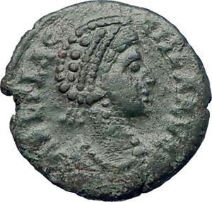 AELIA-FLACILLA-383AD-Ancient-Roman-Coin-VICTORY-CHI-RHO-Christ-monogram-i73465