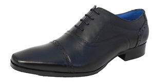 Mens Black Real Leather Lace Up Smart Formal Shoes Size 6 7 8 9 10 11 12 13 14