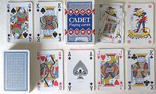 PLASTIC COATED 'CADET' POKER BRIDGE CANASTA 54 (2 JOKERS) PLAYING CARDS - p04!!