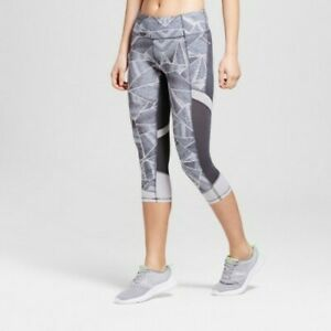 Women S Freedom Run Cropped Leggings C9 Champion White Military Blue Print S 492140650175 Ebay