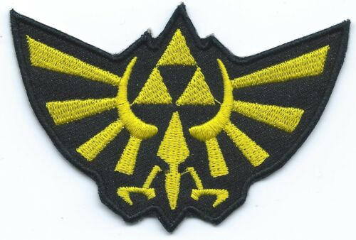 Gold Hyrule Wingcrest Embroidered Patch Iron-on Motif Legend of Zelda