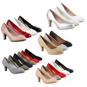 Details zu Klassische Damen Pumps Strass Glitzer Party Metallic Stilettos 78328 Schuhe