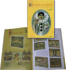 libro-RICORDI-IN-LATTA-vecchie-scatole-di-cioccolato-biscotti-VENCHI-SAIWA-DELTA