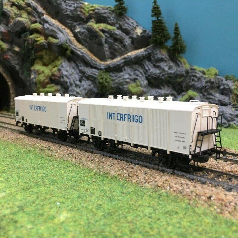 Coffret de 2 wagons INTERFRIGO Sncf époque IVHO187LSmodelloS 30512