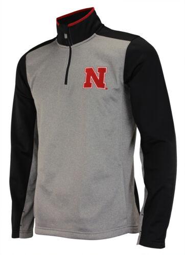 OuterStuff NCAA Men/'s Nebraska Cornhuskers Top Notch 1//4 Zip Jacket Grey