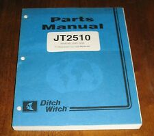 Ditch Witch Jt2510 Parts Manual Jet Trac Boring Systems Book