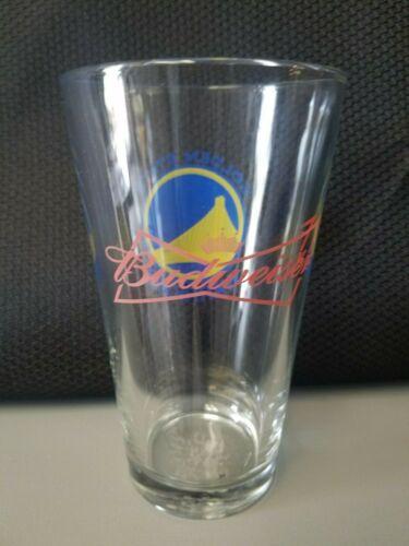 NBA Official Logo Golden State Warriors Classic Budweiser Pint Glasses EUC