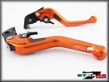 Strada 7 CNC Short Carbon Fiber Levers Suzuki SFV650 GLADIUS 2009 - 2013 Orange