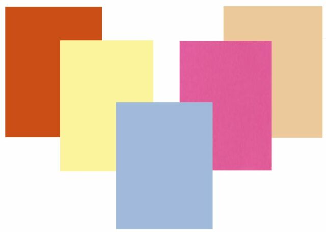 Surtidos Pastel Color Mix A4 Tarjeta 160gsm 50 Hojas Azul Verde Amarillo Rosa Salmón