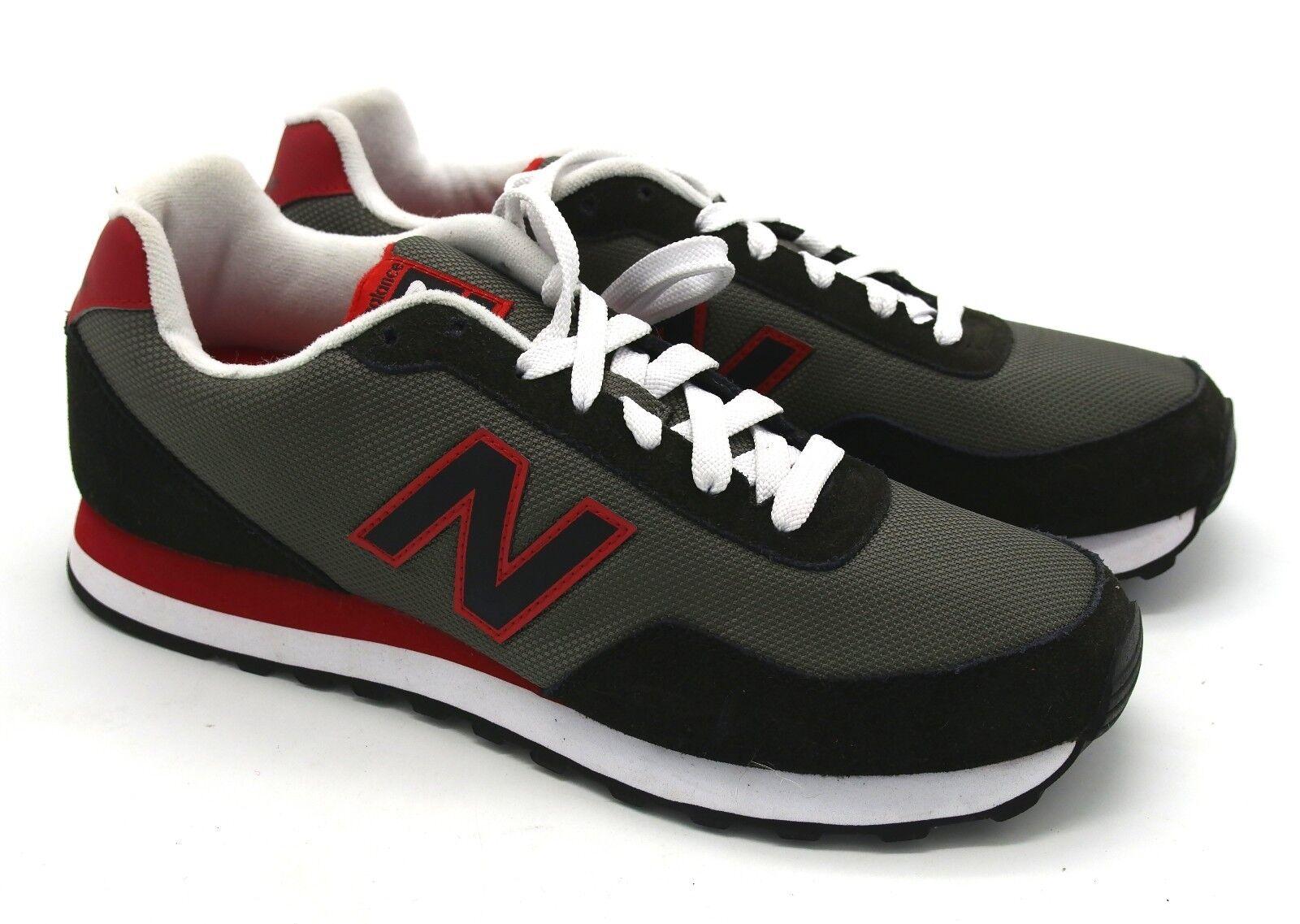 J5864 New Men's New Balance ML411AAA Black Red White Sneaker 9.5 M