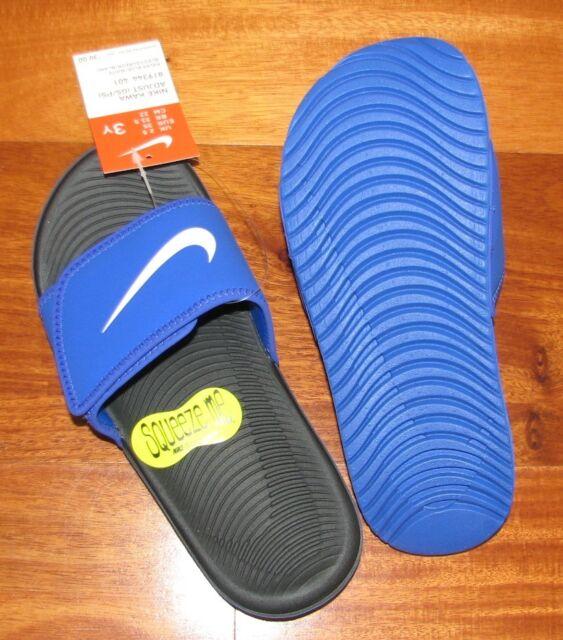 2aa876a74 New Nike Kawa Adjustable Boys Slide Sandals 11 12 13 1 2 3 4 5 Little