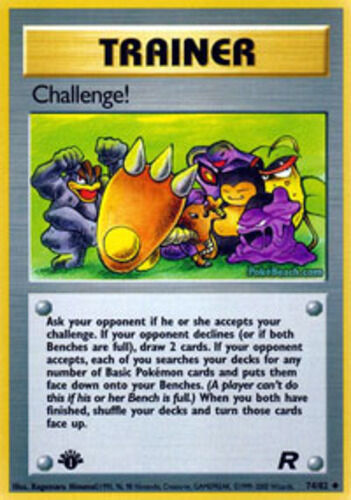 Uncommon 74//82 1st Edition NM-Mint Pokemon G1 1x Challenge! Team Rocket