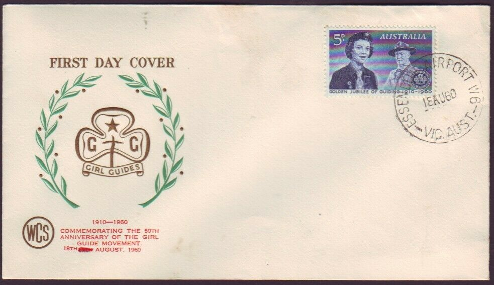 VICTORIA POSTMARK ESSENDON AIRPORT W6 ON 1959 GUIDES FDC RATED 3R  (RU4852)