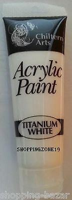 ACRYLIC ARTIST PAINT TUBES IN 8 ASSORTED COLOURS 120ML ARTS/CRAFTS CHILTERN ARTS