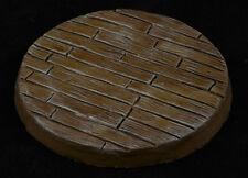 60mm Wood Plank Custom Scenic Resin Miniature Base Fantasy Warhammer 40k