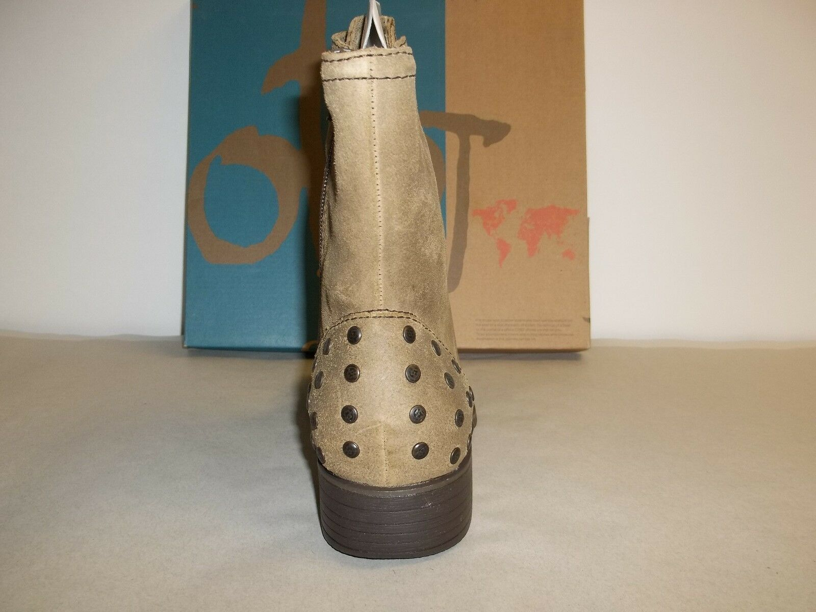 OTBT Size Size Size 8 M Bridgeman Brown Distressed Leather Ankle Boats New Womens shoes 8949d0