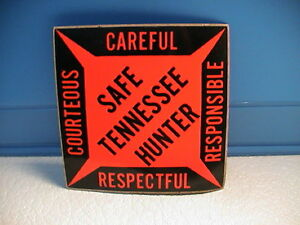 Tennessee Wildlife Resources Agency Safe Hunter Education Pistolet Fenêtre Autocollant Nouveau-afficher Le Titre D'origine