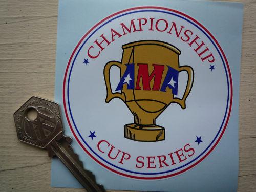 AMA Championship Cup SERIES Superbike Motorcyle Sticker 85mm Bike Race Racing