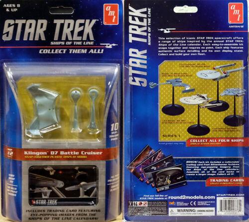 Star Trek Klingon D7 Battle Cruiser Ships of the Line AMT Model Kit AMT914 USS