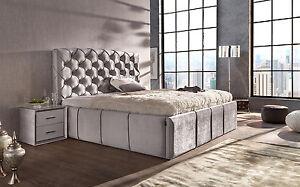 di lara polsterbett royal mit bettkasten 140x200 160x200 180x200 200x200 ebay. Black Bedroom Furniture Sets. Home Design Ideas