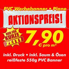 300 cm x 100 cm PVC Werbebanner Werbeplane Plane Banner inkl. Druck, Saum & Ösen