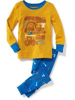NWT Gymboree Boys Pajama set Gray Construction 4,5//6,10//12