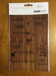 KaiserCraft-Printed-Chipboard-Hunt-And-Gather-Camps-Scrapbooking-Craft