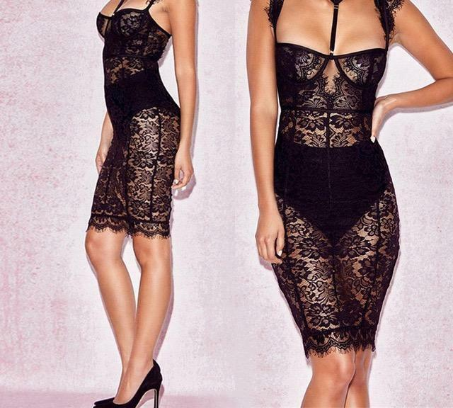 Liana  Sheer Lace Dress