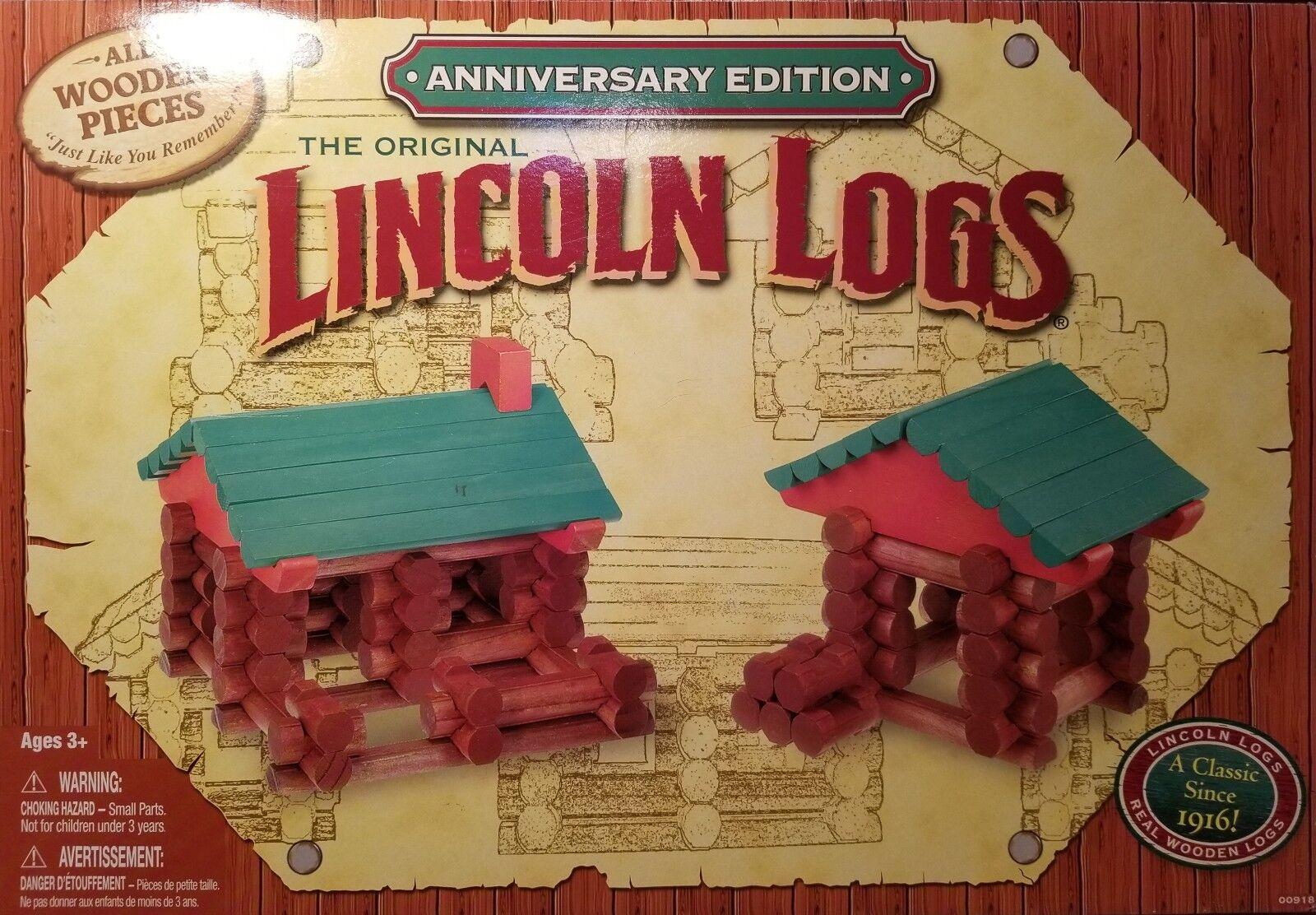 Lincoln Logs 100th Anniversary Edition Set + Two Bonus Sets (207 Total Pcs.)