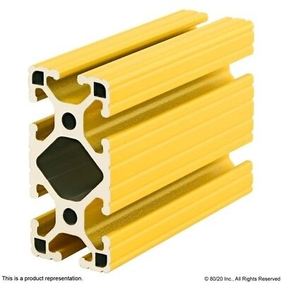 80//20 Inc T Slot Aluminum Extrusion Powder Coated 10 Series 1010-Yellow-72 N