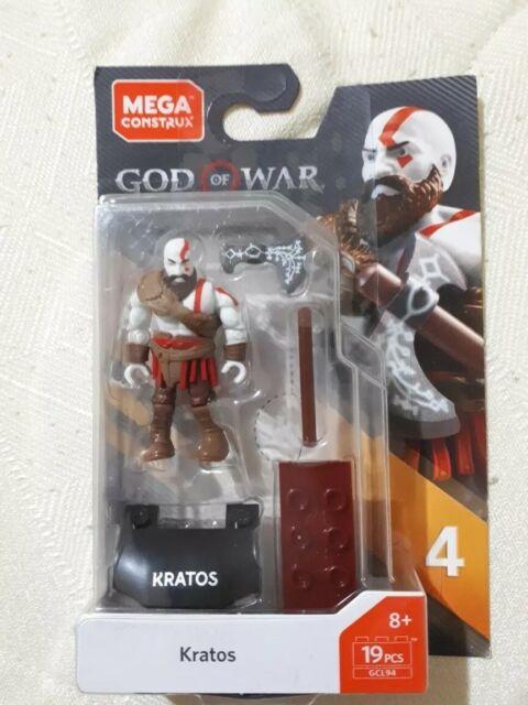 T-800-4 Pack Bundle Mega Construx Heroes Series 4 Ezio Kratos MAN-AT-ARMS