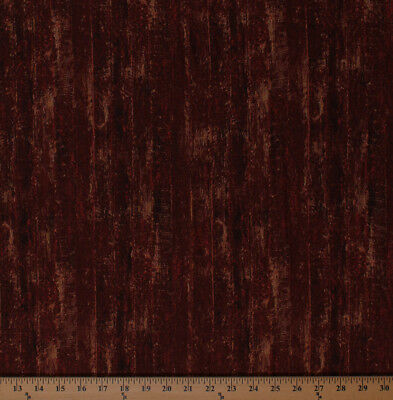 Cotton Landscape Barn Siding Wood Grain Floorboards Fabric Print by Yard D676.22