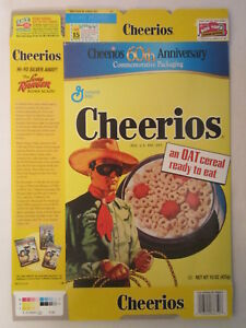 empty cheerios cereal box lone ranger 01 60th anniversary general