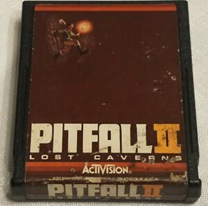 Pitfall II 2- Lost Caverns (Atari 2600, 1984) Video Game Cartridge Only Tested