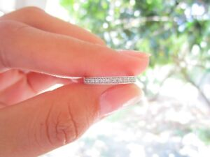 .17 Carat Diamond Half Eternity Ring PT900 codeHE08 sepvergara