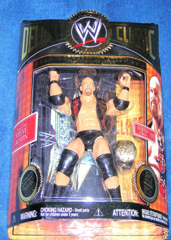 STONE COLD COLD STONE AUSTIN DELUXE CLASSIC SUPERSTARS WWE ECW RAW NEW FAST NEXT DAY SHIPIN 4319cc