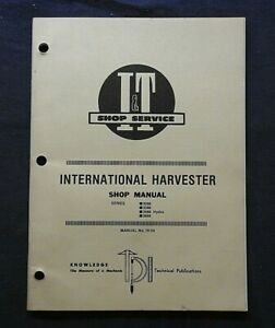 1986 INTERNATIONAL HARVESTER 3088 3288 3488 HYDRO 3688 TRACTOR I&T REPAIR MANUAL