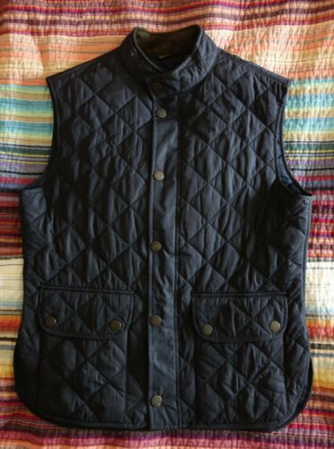 Barbour Land Rover Black Quilted Vest Men's Sz Med